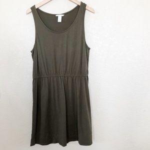 H&M Olive Green Knit Basic Dress Sz Large